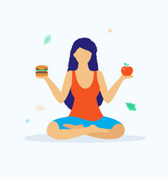 yoga and healthy lifestyle concept vector image vector image