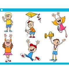children characters cartoon set vector image vector image