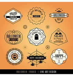 Collection of Halloween Labels and frames vector image vector image