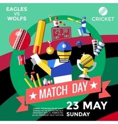 Cricket Advertisement Poster vector image