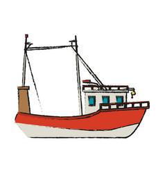 fishing boat icon vector image