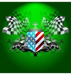 grand prix flag vector image