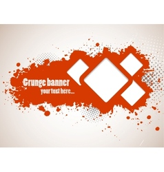 Grunge banners with squares vector image vector image