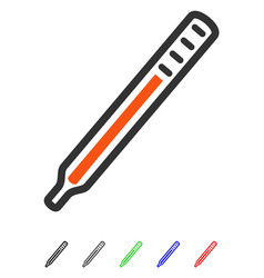 medical thermometer flat icon vector image vector image
