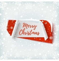 Merry christmas abstract red and white banner vector
