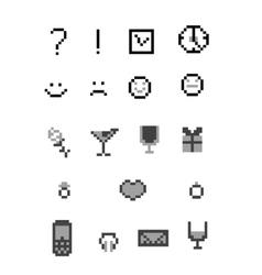 pixel icon vector image