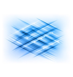 abstract lines blue cross vector image vector image