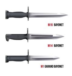 Bayonet Knives for rifles vector image