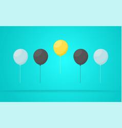 outstanding unique yellow balloon vector image vector image
