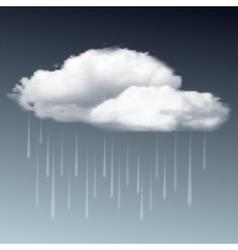 Raincloud and rain in the dark sky vector image vector image