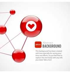 Abstract background with red spheres vector image