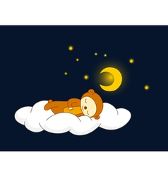 bear sleeping vector image vector image