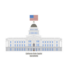 California state capitol vector