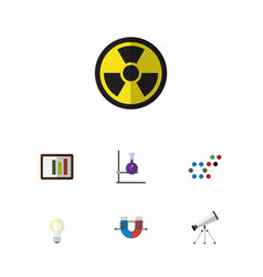 flat icon knowledge set of attractive force vector image