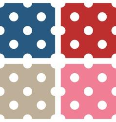Polka dot seamless patterns vector image