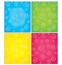 Set of swirl backgrounds vector image vector image