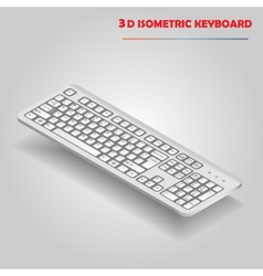 White 3d computer keyboard vector image vector image