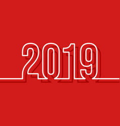 2019 new year cover template minimal design vector