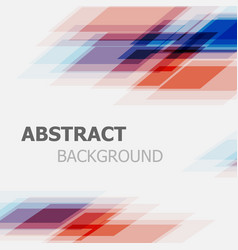 Abstract blue and red business straight line vector