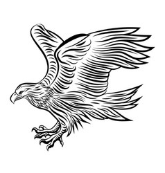 abstract eagle vector image