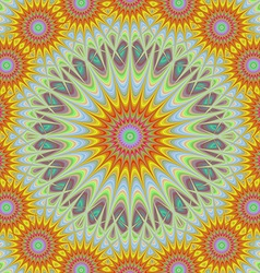 Abstract geometric sun mandala design background vector