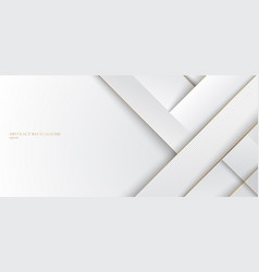 abstract white and gray stripes with golden line vector image