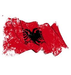 Albania Flag Grunge vector image