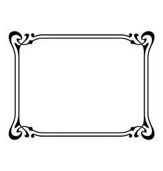 art nouveau ornamental decorative frame vector image