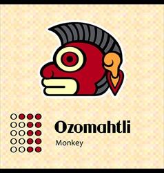 Aztec symbol Ozomahtli vector