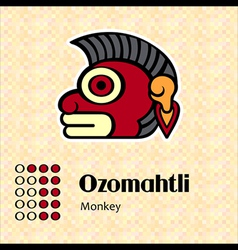 Aztec symbol Ozomahtli vector image