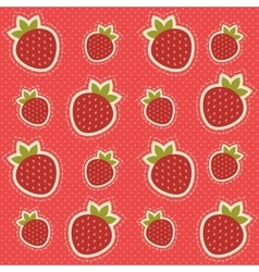 Background with strawberries vector