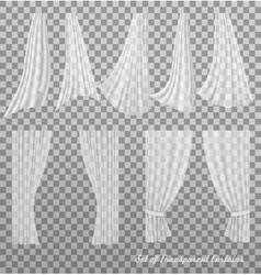 Big collection transparent curtains vector