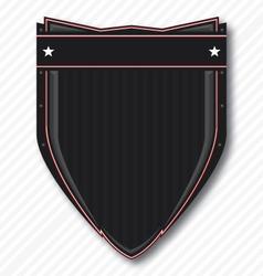 Black biker shield vector