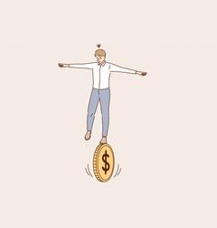 business financial risk balance economics vector image
