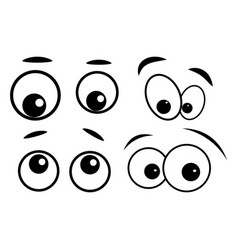 cartoon eyes symbol icon design vector image