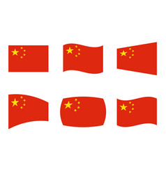 China flag official colors of vector