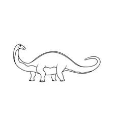 coloring book brontosaurus vector image