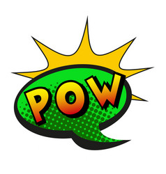Comic lettering pow on white background vector