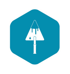 construction trowel icon simple style vector image