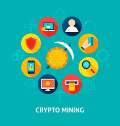 crypto mining concept vector image