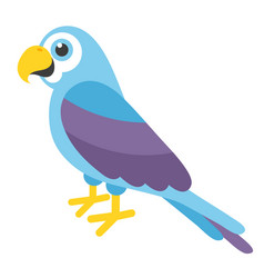 Cute blue parrot vector