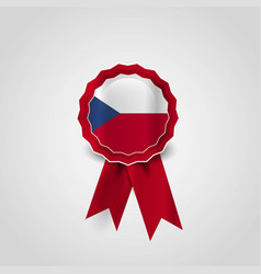 Czech republic flag ribbon banner badge vector
