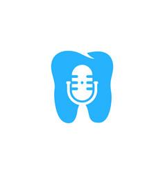 dental podcast logo icon design vector image