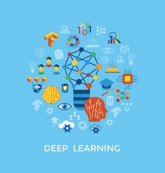 digital deep learning vector image