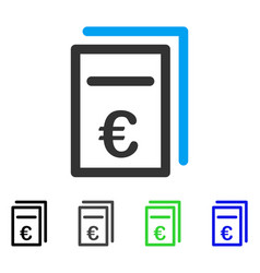 Euro pricing documents flat icon vector