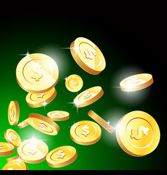 explosion gold coins casino fortune and vector image
