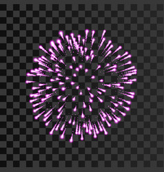 Firework pink sparkle isolated transparent vector