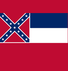 flag of the usa state of mississippi vector image
