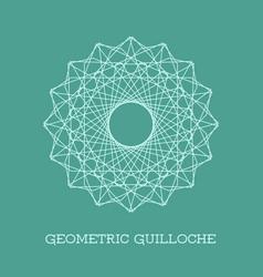 geometric guilloche rosette vector image