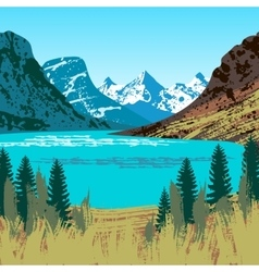 Glacier National Park vector